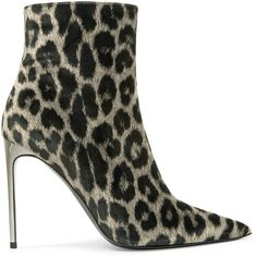 Stella McCartney Leopard-print velvet ankle boots (3.085 RON) ❤ liked on Polyvore featuring shoes, boots, ankle booties, high heel booties, high heel boots, ankle boots, velvet ankle boots and pointed toe booties