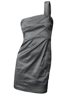 Vestido de Ombro Único Cinza - Posthaus $29,90