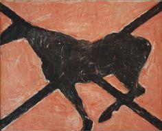 """Butterfly"" Susan Rothenberg, Horses series  https://www.artexperiencenyc.com/social_login/?utm_source=pinterest_medium=pins_content=pinterest_pins_campaign=pinterest_initial"