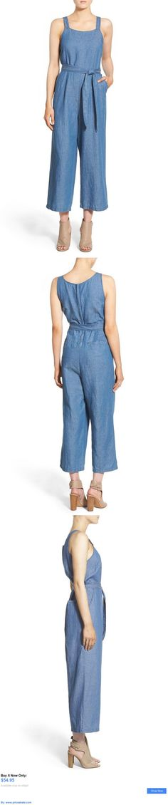 Jumpsuits And Rompers: Madewell Chambray Muralist Romper Denim Jumpsuit Size 8 BUY IT NOW ONLY: $54.95 #priceabateJumpsuitsAndRompers OR #priceabate