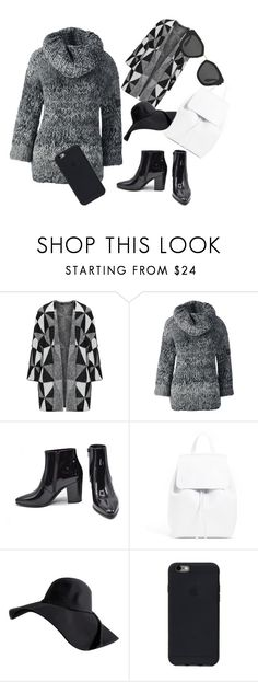 """""""Untitled #119"""" by kvokopola ❤ liked on Polyvore featuring Lands' End, Yves Saint Laurent and Prada"""