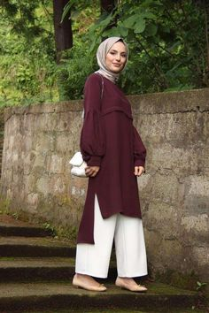 Stunning 2018 Fall Outfit Ideas for Hijab Girls - Girls Hijab Style & Hijab Fashion Ideas Hijab Casual, Hijab Chic, Hijab Fashion Casual, Islamic Fashion, Muslim Fashion, Modest Fashion, Mode Outfits, Fashion Outfits, 80s Fashion