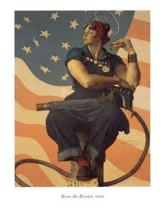Norman Rockwell, Rosie the riveter, you can do it!!