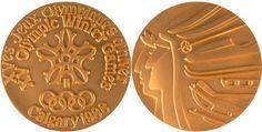 Medalla de los Juegos Olímpicos de invierno Calgary 1988,Canadá