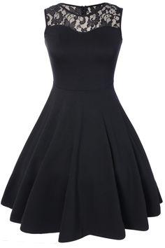$17.25 Sleeveless Lace A Line Dress