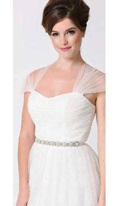 White Pearl & Silver Rhinestone Beaded Brooklyn Bridal Sash