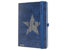 Originální zápisník Lanybook s motivem hvězdy na modrém podkladu. Office Supplies, Notebook, Unisex, Exercise Book, The Notebook, Journals