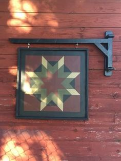 Primitive Barn Quilt Arm Wall Bracket by CrowCorner on Etsy Barn Quilt Designs, Barn Quilt Patterns, Quilting Designs, Block Patterns, Square Patterns, Print Patterns, Primitive Quilts, Primitive Crafts, Wood Crafts