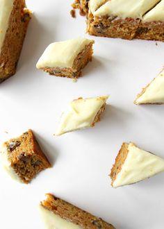 Orange Carrot Cake Bars | The Kitchen Paper