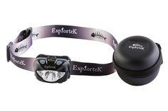 Explortek Nite-Blazer LED Headlamp with Case -- Click on the image for additional details.