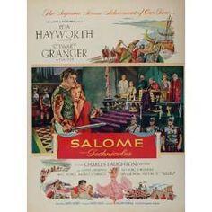 rita hayworth ad   1953 Movie Ad Salome Rita Hayworth Stewart Granger Original Print Ad