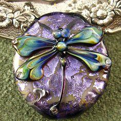 Kerrie Fuhr Dragonfly Lampwork Bead