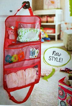 Hang-Up Activity Organizer can be used for that newborn baby diapers, wipes, pacifiers, and toys.