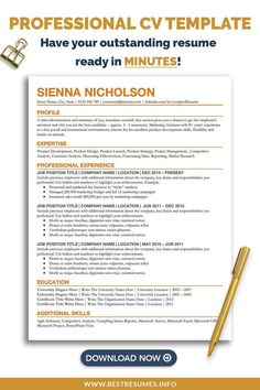 Revamp your old CV with this downloadable simple CV template. Open in your internet browser without installing any fonts, edit the text, and your new CV is ready. Clean CV layout and modern CV design will help you get noticed. Free matching cover letter template and references page are included. CV template for Google Docs is easy to edit and customize. Cv Template Student, Resume Cover Letter Template, Simple Resume Template, Resume Templates, Resume Writing Tips, Resume Help, References Page, Cv Design, Google Docs
