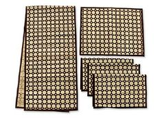 Brown Bamboo Reed Table Runner and Placemats (Set for 4)