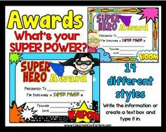 AWARDS - Super Hero - What's Your SUPER POWER? {end of yea