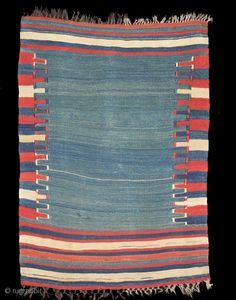 Ref 1235 Antique Urfa kelim.  All natural dyes. One restoration to edge. 3'6 x 2'8 - 107 x82.