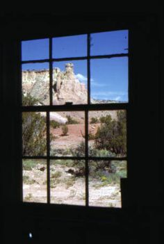 Georgia O'Keeffe's Ghost Ranch House, View from Window :: William Innes Homer Papers