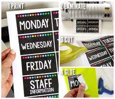 GORGEOUS labels for organizing classroom supplies