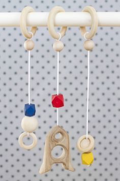 Your place to buy and sell all things handmade Baby Gym, Wooden Rings, Our Baby, Wooden Beads, Kids Toys, Shapes, Messages, Hangers