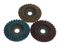 10 disques à lamelles Norton grain 80 R842  INOX//ACIER  125mm