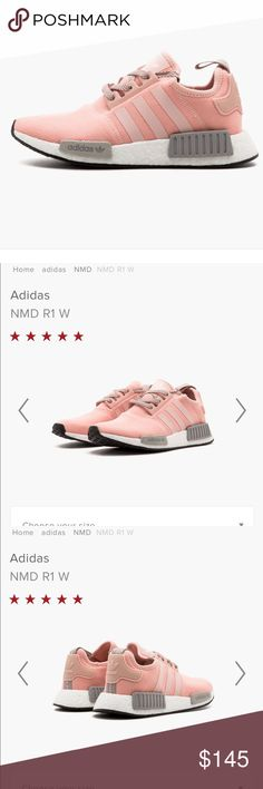 27340efe9 Pink Adidas NMD R1 NEVER WORN. Pink and Grey Adidas boost Adidas Shoes  Athletic Shoes