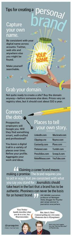 Personal Branding - Tips for creating a personal brand Inbound Marketing, Business Marketing, Content Marketing, Internet Marketing, Online Marketing, Social Media Marketing, Marketing Branding, Marketing Ideas, Business Branding