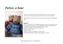 Pattoz, the knitted bear pattern by Annalisa Dione Teddy Bear, Stuffed Animals, Pattern, Patterns, Teddy Bears, Plushies, Stuffed Animal Patterns, Model, Swatch
