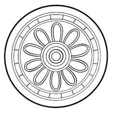 Mandalas Para Pintar: Disco de Bashikah (Mesopotamia) Geometric Coloring Pages, Pattern Coloring Pages, Mandala Coloring, Coloring Book Pages, Mandala Art, Mandala Stencils, Mandala Design, Zentangle Patterns, Embroidery Patterns