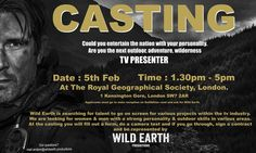 Only a couple of days to go, before our tv talent casting at The Royal Geographical Society in London. #presenter #casting