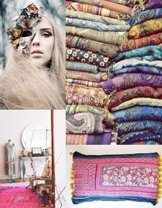 bohemian style collage