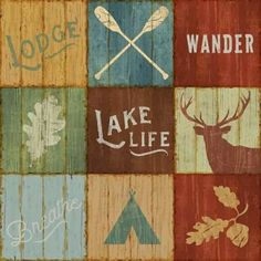 Sue Schlabach Solid-Faced Canvas Print Wall Art Print entitled Lake Lodge VII, None Deep Box Frames, Frames On Wall, Framed Wall Art, Canvas Wall Art, Wall Art Prints, Framed Prints, Canvas Prints, Big Canvas, Canvas Size