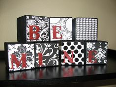 giant blocks for center pieces with be mine painted by dsacc kids?