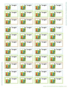 Free Printable - TV Program Stickers from Victoria Thatcher