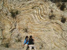 Recumbent, chevron folds found at Crystal Cove State Park, near Laguna Beach, Calif.