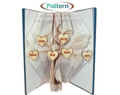 Folded book art Book folding patterns Birthday by WolFabricBooks Book Folding Patterns, Folded Book Art, Birthday, Books, Birthdays, Libros, Book, Book Illustrations, Dirt Bike Birthday
