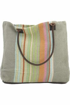 Stone Soup Woven Cotton Tote Bag DASH & ALBERT RUG COMPANY --- BEST BAGS EVER, HAVE HAD MINE FOR 7 YEARS AND ITS STILL LOOKS GREAT AND HOLDS HEAVY LOADS AND STAYED AS STRONG AS THE FIRST DAY I GOT IT.