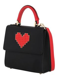 Mini Alex Heart Lego Leather Bag