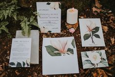 Botanical-inspired wedding invitation suite   Image by The Marions