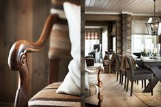 Stranda from Slettvoll site Little Log Cabin, Interior Architecture, Interior Design, Mountain Designs, Wishbone Chair, Coastal Living, Home Fashion, Rustic Style, Interior Inspiration