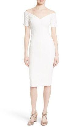 Shop Now - >  https://api.shopstyle.com/action/apiVisitRetailer?id=541172131&pid=uid6996-25233114-59 Women's Cinq A Sept 'Jolie' Off The Shoulder Sheath Dress  ...