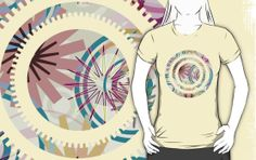 PATTERN-2 - T-Shirts, Hoodies by Pia Schneider, atelier COLOUR-VISION; #art #design #pattern #geometric #grahicdesign #vector #vectorart #circles #illustration #graphic #shapes #floral #softcolored #piaschneider #ateliercolourvision #decor #home #pastel #creme #salmon #rose #blue #purple #tees #tshirt #hoodies #clothes #unisex #women #girlyfit #men #fashion #clothing