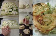 Rose alle Zucchine e Provola antipasto facile
