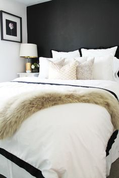 http://www.stylemepretty.com/living/2015/03/18/how-to-style-a-bed-3-ways/