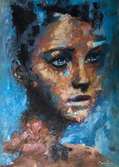 """Davide Cambria (German: 1986) - """"Untitled"""" - Oil 2013"""