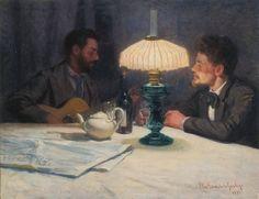 """Elin Danielson-Gambogi 1897 """"Winter Night"""""""