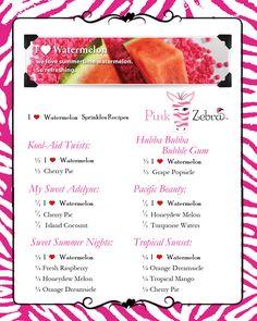 I Heart Watermelon Recipes www.pinkzebrahome.com/lancasterscents lancasterscents@gmail.com