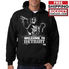 DETROIT CITY STAMP HOODIE Made In The D Tigers Hooded Sweatshirt Hoody Lions Red