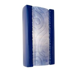 A-19 Clouds Wall Sconce Cobalt Blue and Sapphire
