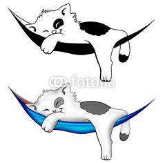 Kitty on Hammock © Bluedarkat